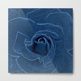 velvety blue rose Metal Print