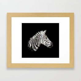 Zebra watercolor Framed Art Print