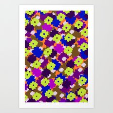 Fall Fun Flowers Art Print