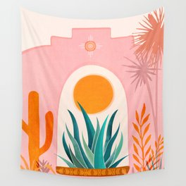 The Day Begins / Desert Garden Landscape Wall Tapestry