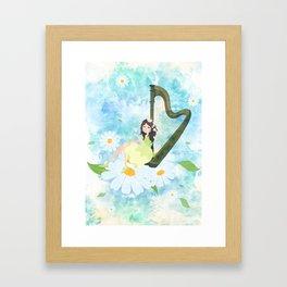 Harp girl 3: Daisy Framed Art Print