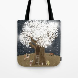 the starlight tree Tote Bag