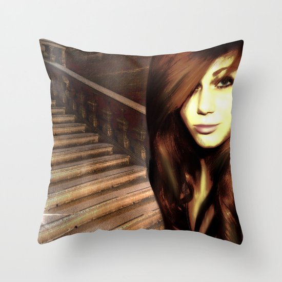 THE STAIRS Throw Pillow