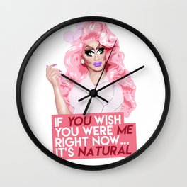 """""""If you wish you were me right now"""" Trixie Mattel, RuPaul's Drag Race Wall Clock"""