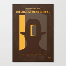 No710 My The Adjustment Bureau minimal movie poster Canvas Print