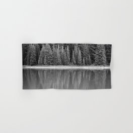 Forest Across the Lake (Black and White) Hand & Bath Towel