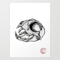 animal skull Art Prints featuring Animal Skull by Emma Heller