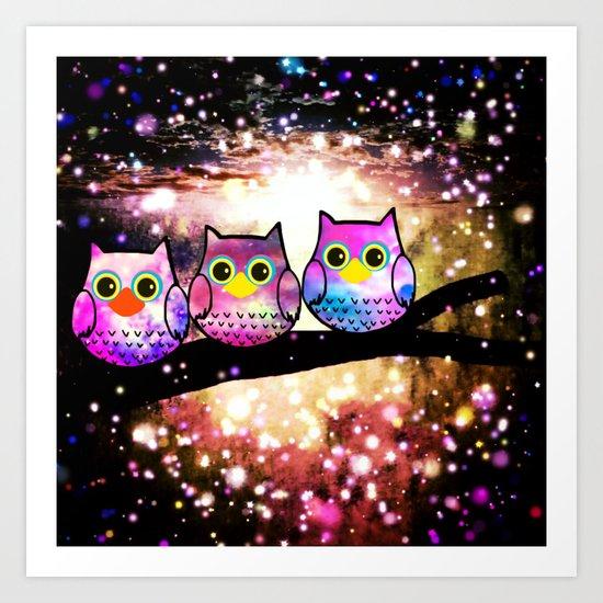 owl-100 Art Print