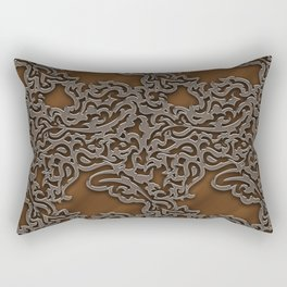 Floral embossing - copper Rectangular Pillow