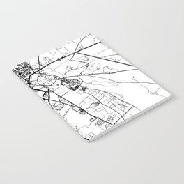 MARRAKESH MOROCCO BLACK CITY STREET MAP ART Notebook