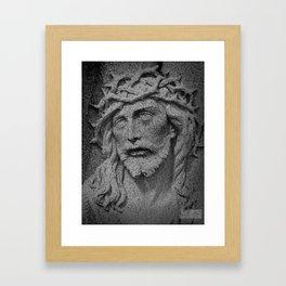 Stone Jesus Framed Art Print