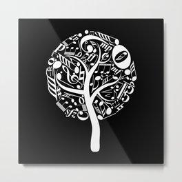 Invert music tree Metal Print