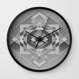 Southwest Geo - BW Wall Clock