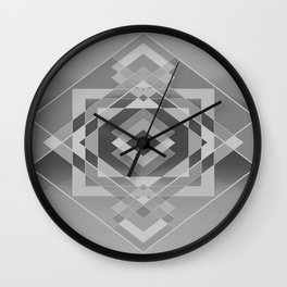 Southwest Geo - BW Wall Clock