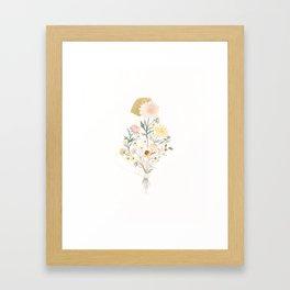 Floraphilia Golden Hair Framed Art Print