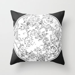 Zodiac Square 1 Throw Pillow
