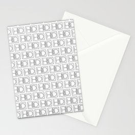 HD Soap Black Tiled on White Stationery Cards