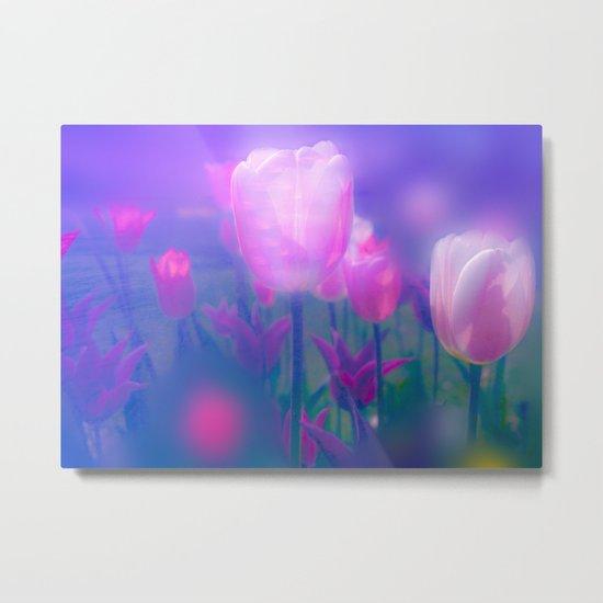 Glowing Tulips Metal Print