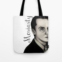 moriarty Tote Bags featuring Moriarty by LiseRichardson