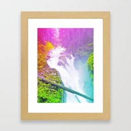Wonderland Waterfall Framed Art Print