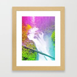 Wonderland Waterfall Framed Art Print