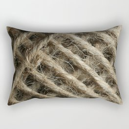 Brown String Rectangular Pillow