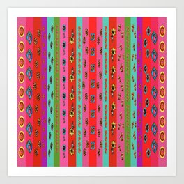 Bright Borders Art Print
