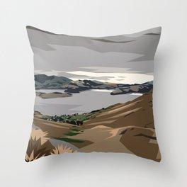 Cass Bay, New Zealand Throw Pillow