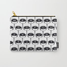Infinite Typewriter_Black and White Carry-All Pouch