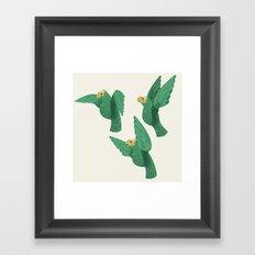 Cotorras Framed Art Print