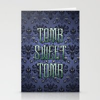 haunted mansion Stationery Cards featuring Haunted Mansion - Tomb Sweet Tomb by Brianna