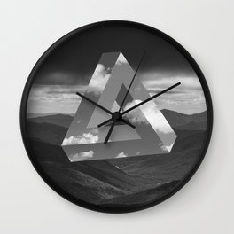 triangle 2 Wall Clock