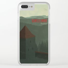 Transylvania Travel Poster Clear iPhone Case