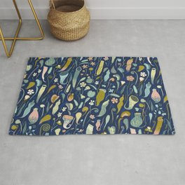 Fool's Paradise [dark blue] Rug