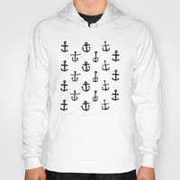 anchors Hoodies featuring Anchors by siobhaniaa