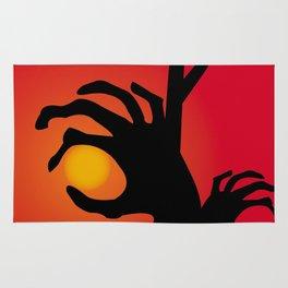 Halloween Raising Ghost Hands Rug