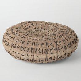 Elder Futhark Circular Composition Floor Pillow