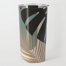 Minimal Monstera Palm Finesse #1 #tropical #decor #art #society6 Travel Mug
