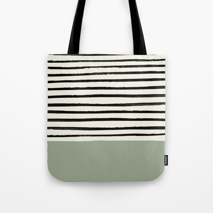 Sage Green x Stripes Umhängetasche