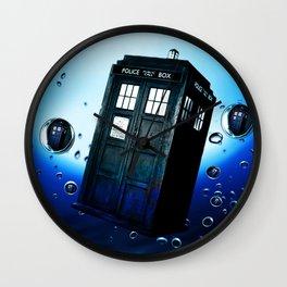 Tardis And Bubble Wall Clock