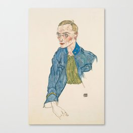 "Egon Schiele ""One-Year Volunteer Lance-Corporal"" Canvas Print"