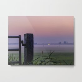 Hazy sunrise Metal Print