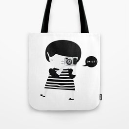 The brunette photographer Tote Bag