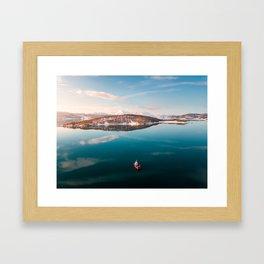 Little Red Norwegian Boat Framed Art Print