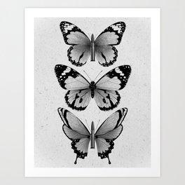 Butterflies & Bullets with Butterfly Wings  Art Print