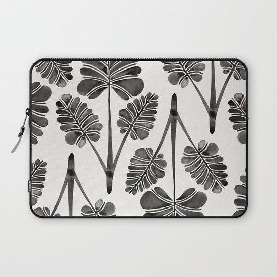 Tropical Palm Leaf Trifecta – Black Palette Laptop Sleeve