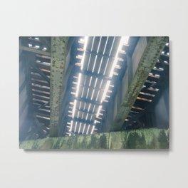 Under The Rail Bridge Metal Print