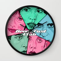 breakfast club Wall Clocks featuring Breakfast Club Colors by David Amblard
