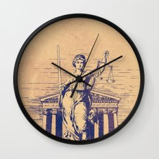 The Skulls of Justice Wall Clock