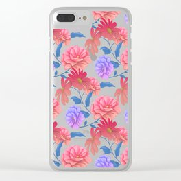 Flowers painting art painting pattern Clear iPhone Case